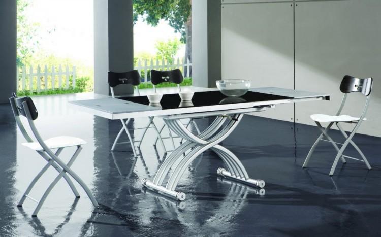 Стол трансформер стеклянная столешница